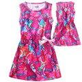 Niños Vestido de Trolls Niñas Vestidos para 6-10Y Magia Primavera de gama Alta de Europa Rojo y Azul Party Girls Vestido Del Bebé Boutique de Ropa