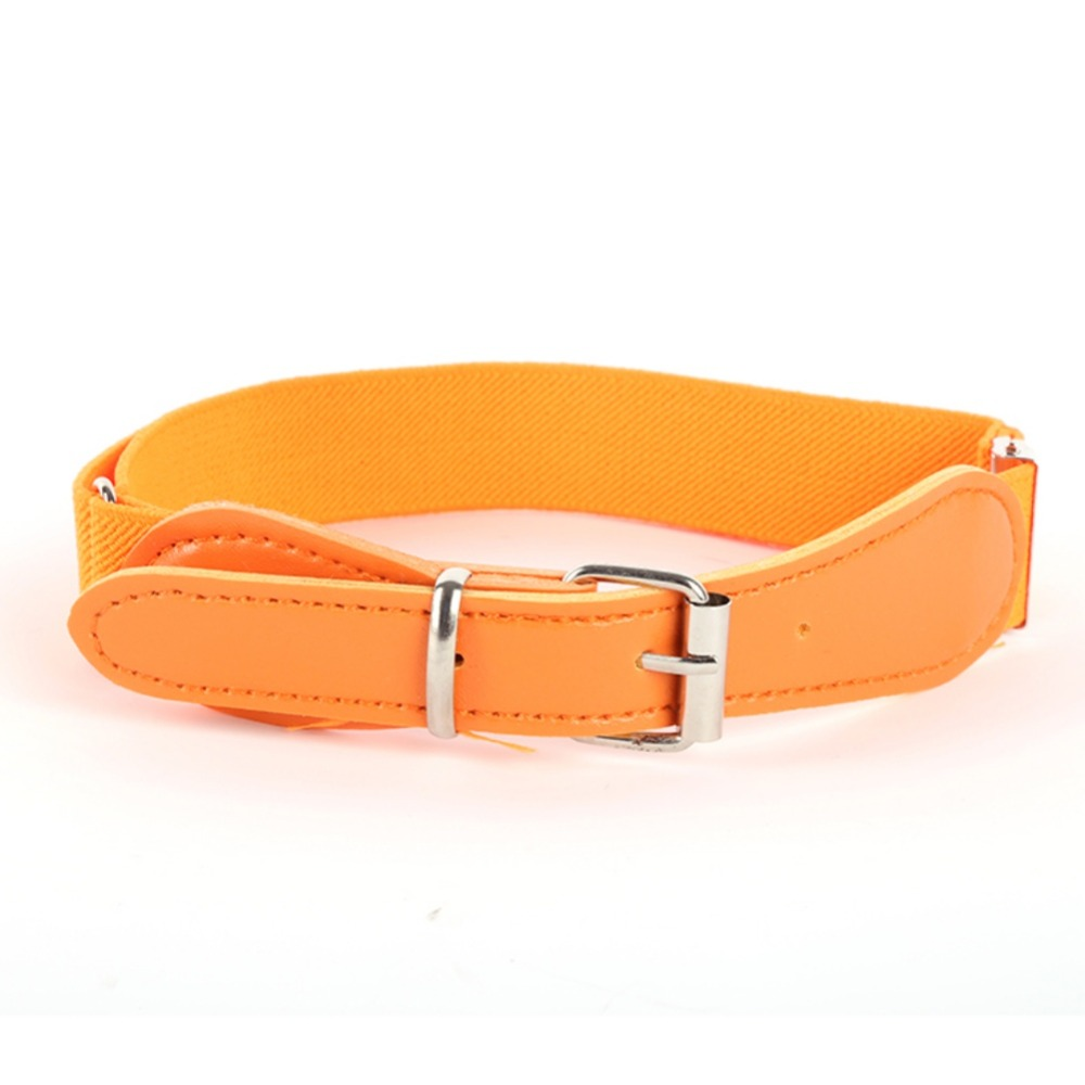 Multi-Colors Child Soft Elastic   Belt   Adjustable Waistband With Alloy Buckle