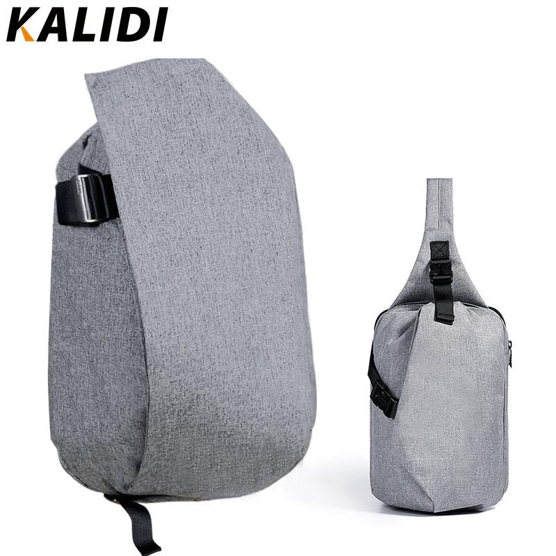 KALIDI 15.6 inch Laptop Backpack & Chest Bag for Ipad Pro 2Pcs Set Bags Cross Body Shoulder Packs for Teenagers Mens Unisex Bag kalidi 2pcs set backpack