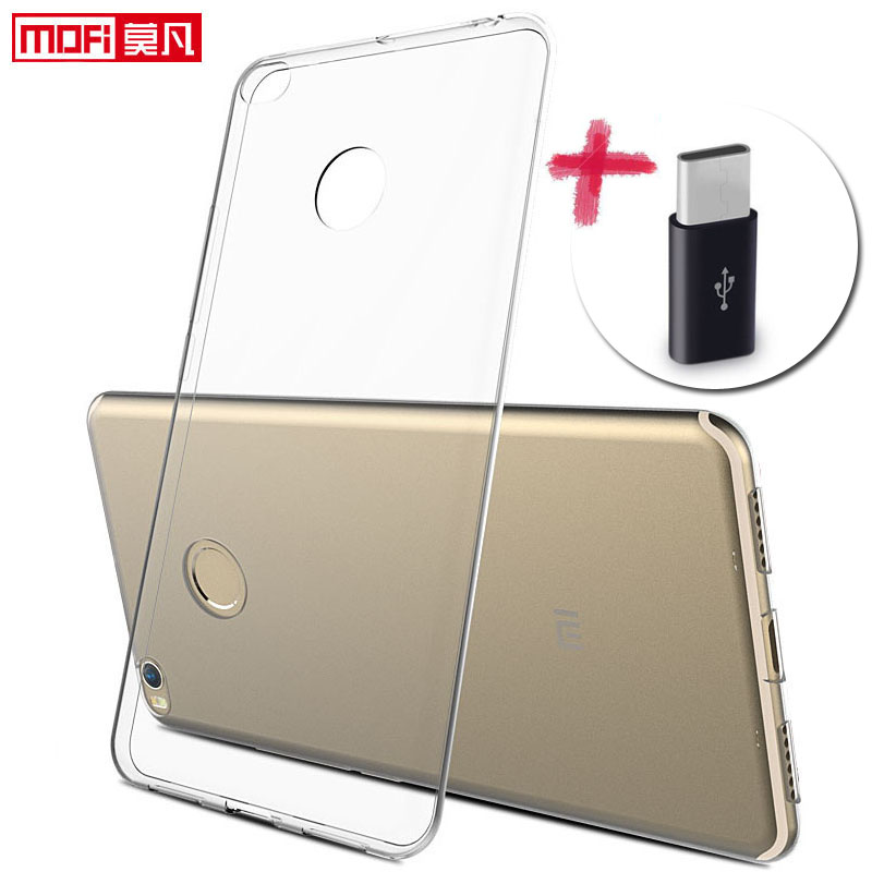 Xiaomi Mi max2 case Xiaomi max 2 cover silicon clear soft back mofi ultra thin 6.44