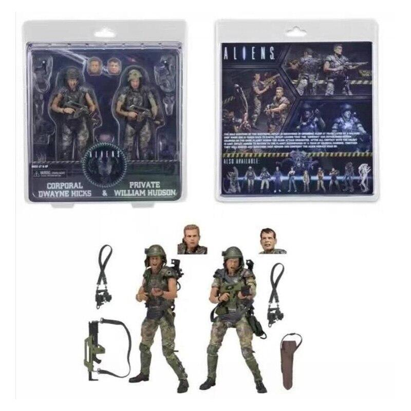 ФОТО Movie 30th Aliens vs Predator AVP Series Corporal Dwayne Hicks and Private William Hudson Soldier Predator Action Figure
