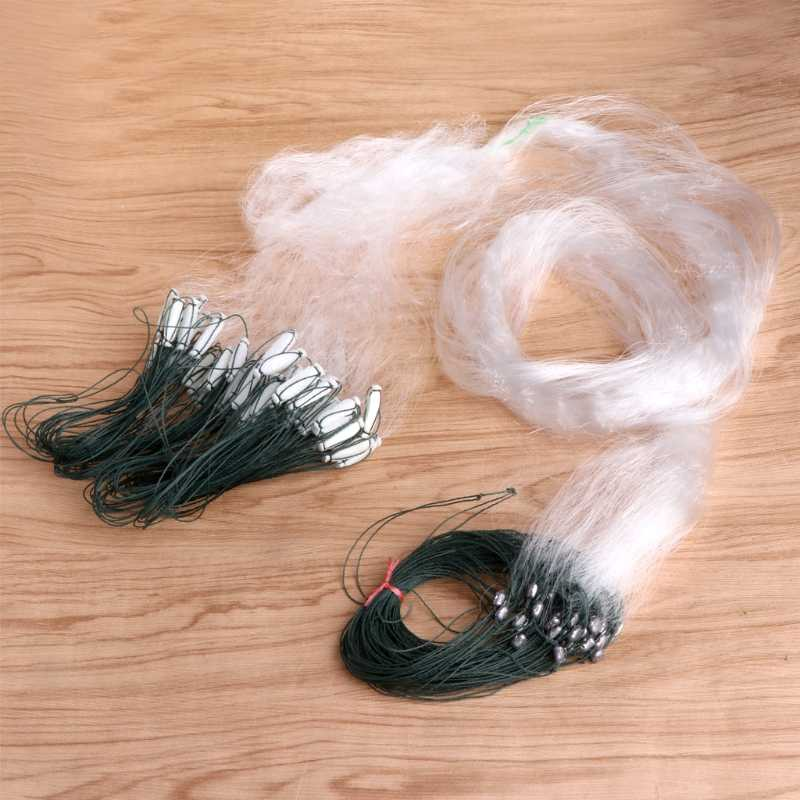 25m Fishing Net 3 Layers Mesh Nylon Monofilament Durable Accessories Float Trap