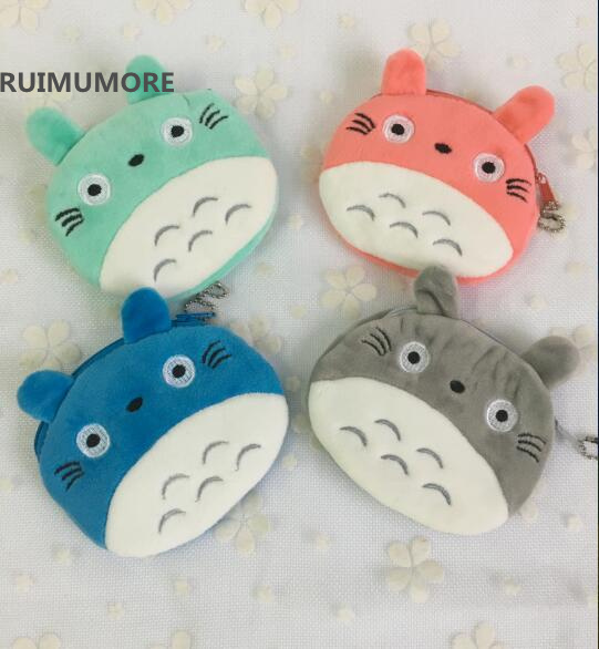 4Colors, Super Kawaii Totoro Plush TOY DOLL , Gift Key Chain Plush Bag Doll Toys