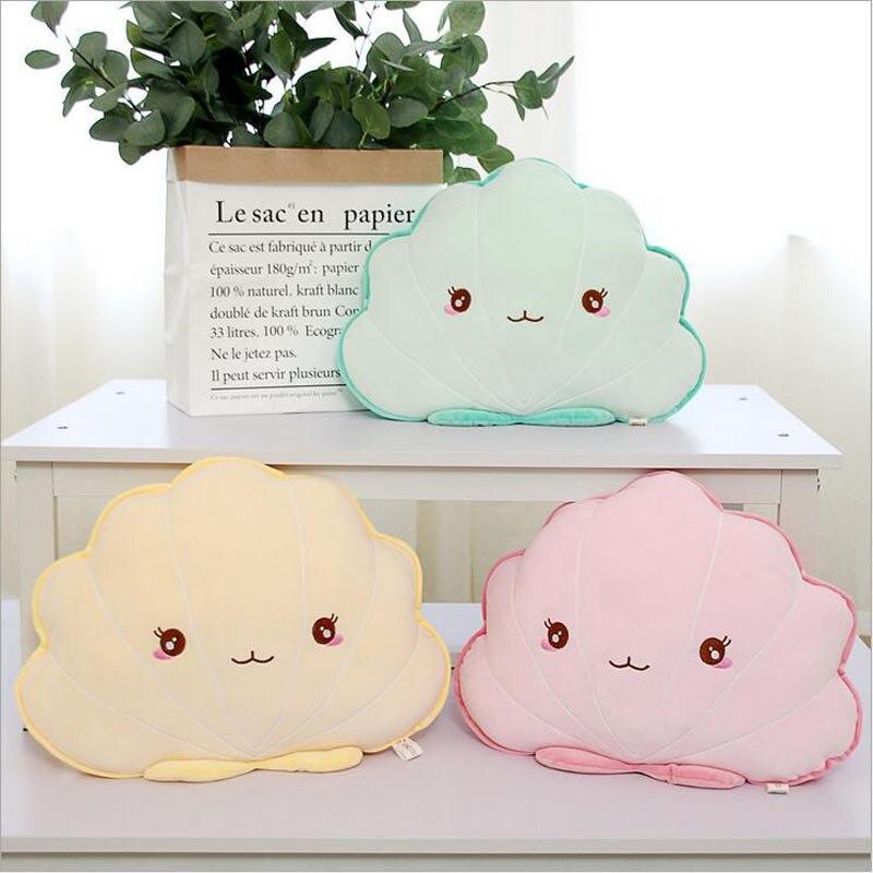 Cartoon Seashell Pillow Soft Plush Toys Stuffed Doll Toy Creative Home Cushion Children Gift