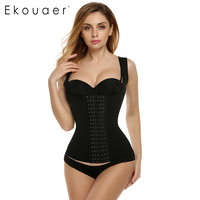 Ekouaer Womens Waist Trainer Waist Training Corsets Plus Size Slimming Body Shaper Workout Waist Shapewear S