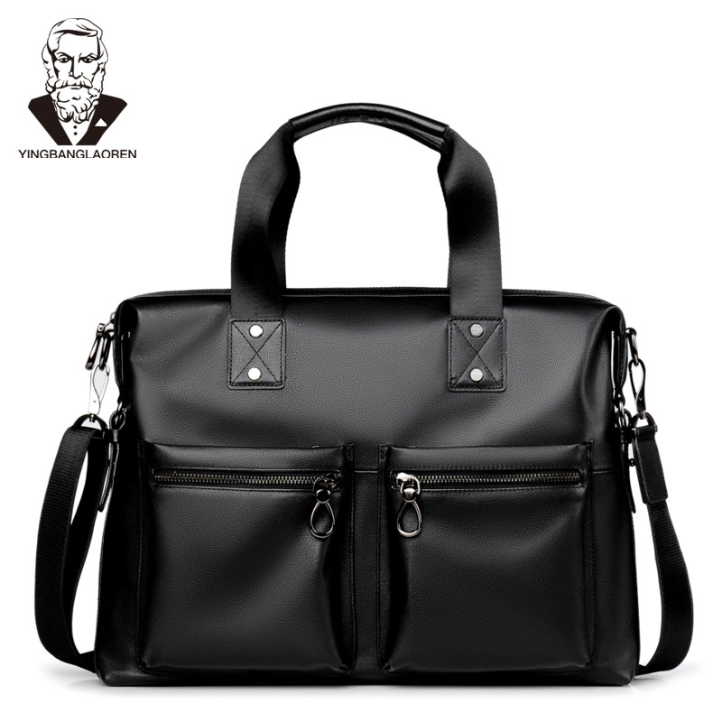 New collection 2018 fashion men bags, men casual leather messenger bag, high quality man brand business bag men's handbag 17