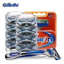 Gillette Fusion Razor Blades for Men Sharp Trimmer Straight