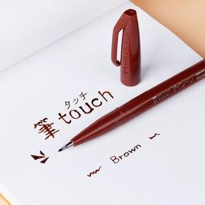 Image 4 - Pentel اللمس الملونة فرشاة تسجيل مجموعة أقلام 6/12 ألوان مجموعة SES15C لينة رئيس مجموعة مواسم محدودة لرسم بطاقات عيد ميلاد