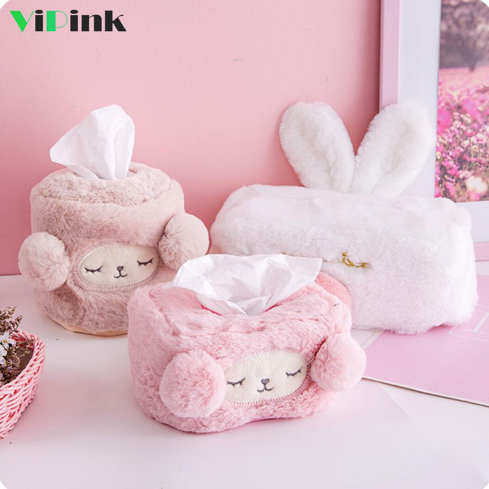 US Portable Soft Plush Cute Ass Shape Creative Cartoon Funny Tissue Box Holder