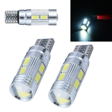 2pcs T10 W5W 5630 10LED Canbus No Error Car Side Wedge Width Light Bulb Led Parking Fog Lamp Auto lights 12V