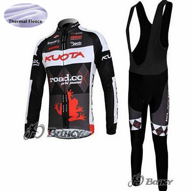 47fe9af6b KUOTA cycling jersey set 2018 pro team long sleeve Winter Maillot Thermal  Fleece Ropa Ciclismo Invierno outdoor bicycle clothing