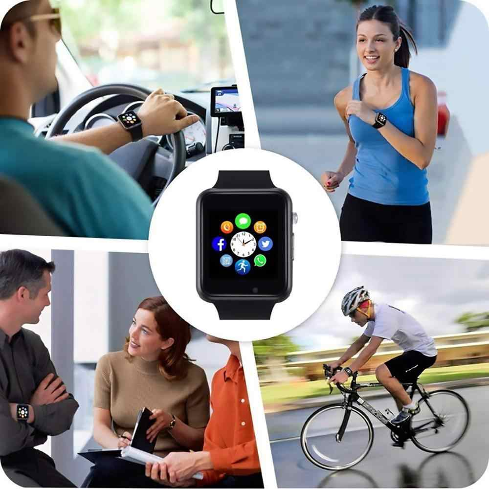 2019 A1 наручные часы Bluetooth Вызов Смарт часы Спорт Шагомер с сим-картой камера Смарт-часы для Apple Iphone Android DZ09