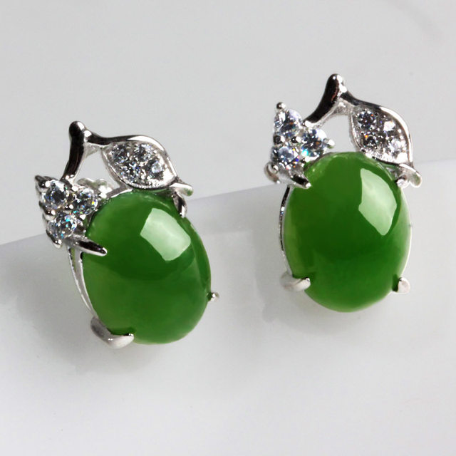 Online shop natural and nephrite jade pendant earrings jewelry natural and nephrite jade pendant earrings jewelry earrings egg surface inlaid jade teardrop shaped earrings female style aloadofball Image collections