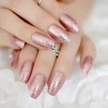 Rose Gold 24 Full Cover False Nails