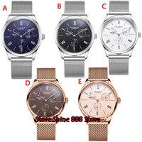 ST1780 de Reserva de Energia Parnis mostrador branco Relógios Mecânicos Marca de Luxo mens Relógio Automático para Homens Homens Venda Presente|Relógios mecânicos|   -