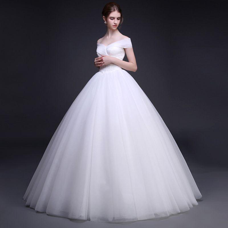 Womens White 1 Hoop A Line Two Layers Petticoat Bridal Wedding Dress Elastic Waist Vintage Lace Trim Underskirt Crinolines Slip