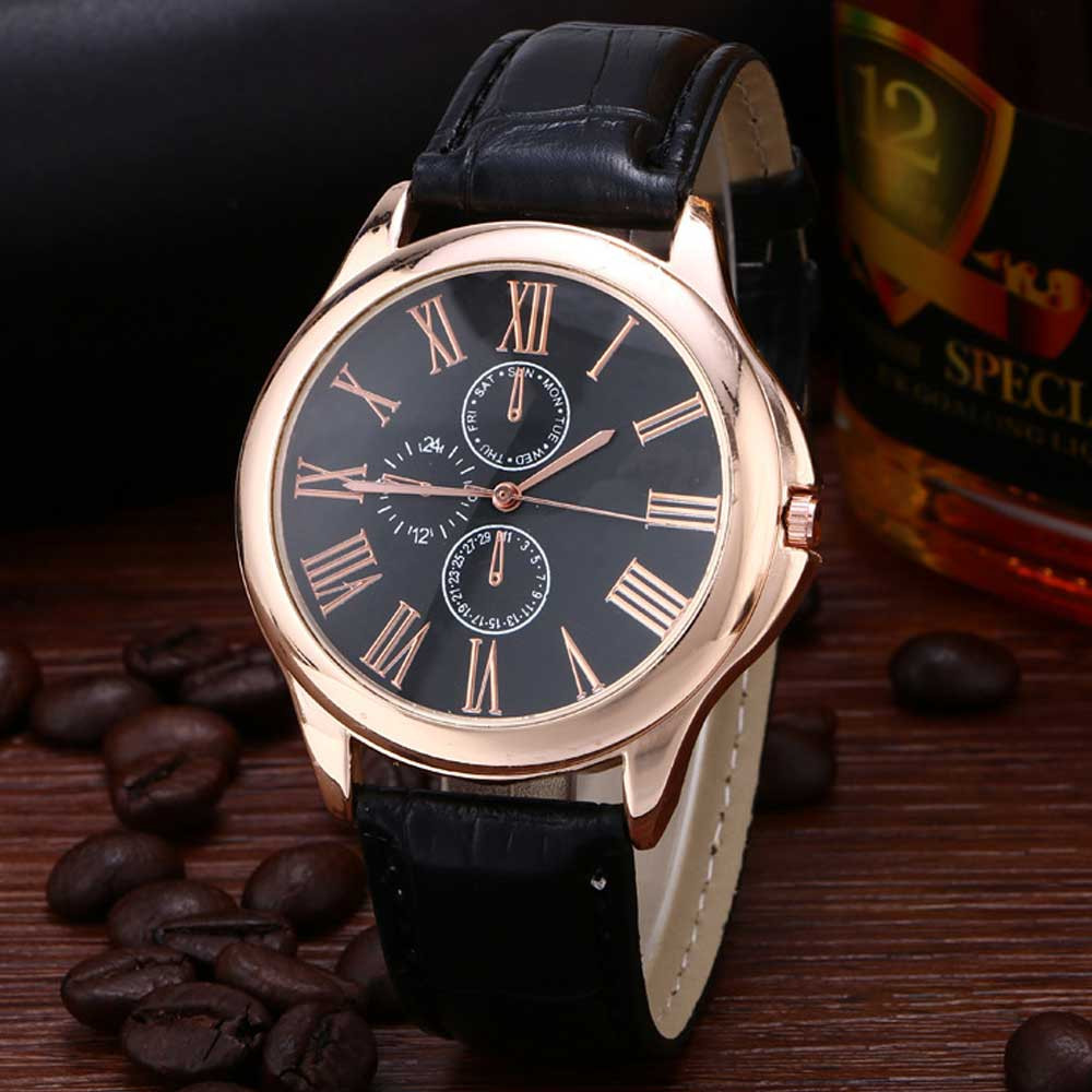 Fashion men's Watches Relogio masculino Male Retro Design Leather Band Analog Alloy Wrist Quartz Watch men #0925 fabulous 1pc new women watches retro design leather band simple design hot style analog alloy quartz wrist watch women relogio
