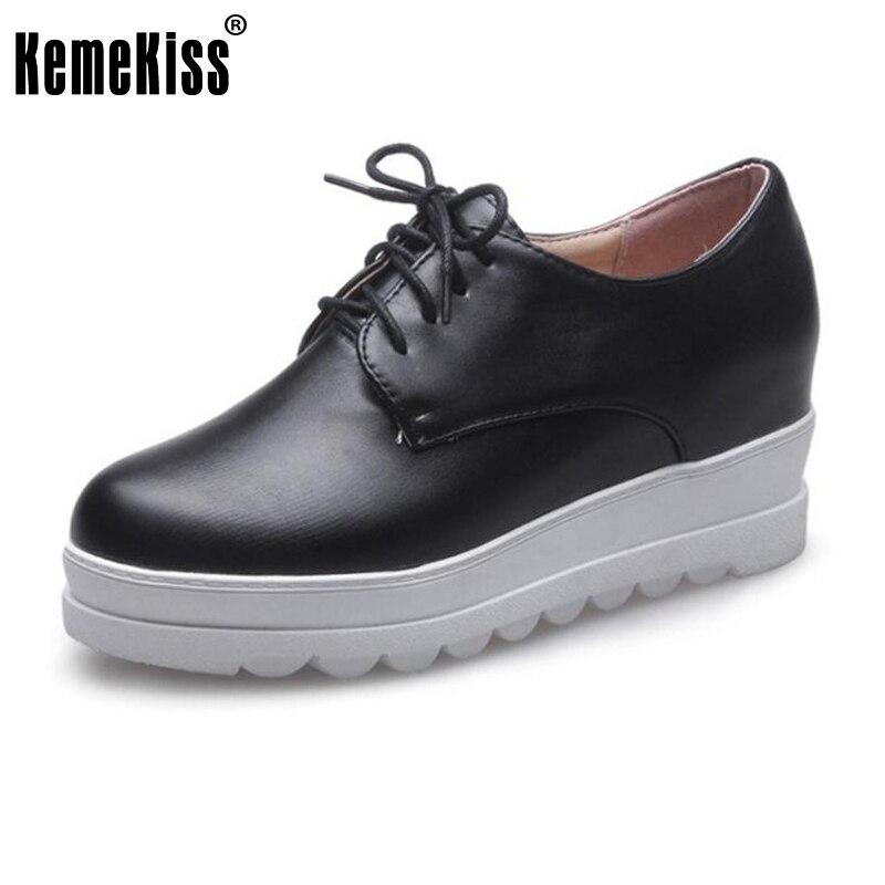 ce0fd399e √Kemekiss Новинка весны женская обувь на платформе Кружево на ...