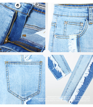 2158 Youaxon New Arrived Plus Size Tassel Jeans Woman Stretchy Patchwork Denim Skinny Pencil Pants Trousers For Women