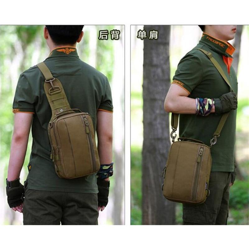 Camouflage ryggsäck resor axelväska fritid bergsbestigning kvinnors enkla axelväskor multifunktionella manliga bröstväska