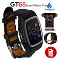 12 pcs heart rate monitor sports smart watch gt68 bluetooth smartwatch telefone gsm sim gps à prova d' água relógios de pulso para android ios