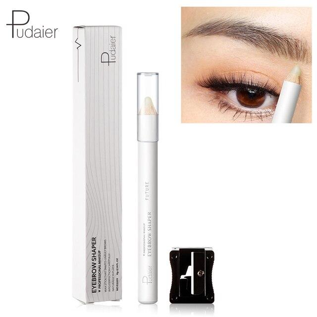 Lápiz de cejas transparente de marca lápiz de cera para cejas con afilador