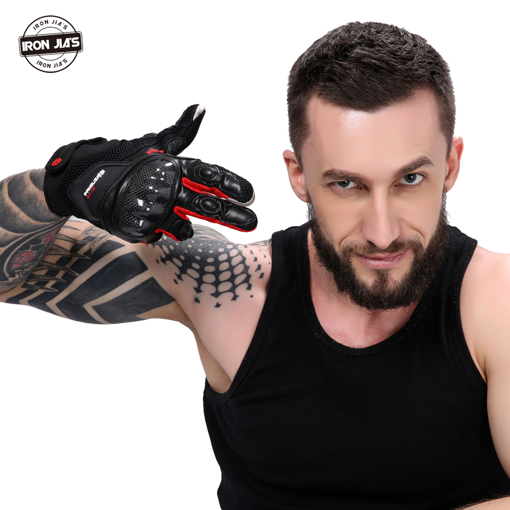 Alpine Motorcycle Gear >> Motorcycle Gloves Leather Carbon Fiber Touch Screen Breathable Racing Gloves Guantes Luvas ...