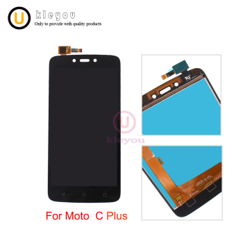 High quality  For Motorola Moto C Plus CPlus XT1723 LCD Display Touch Screen Sensor Glass Assembly Black Gold Color