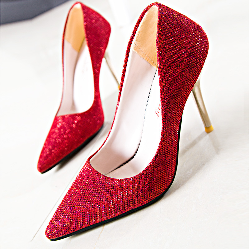 New Women Pumps Spring Summer 5 Colors Thin Heels Pointed Toe All Match Office Casual Pumps Lady Comfortable Simple Style Shoes new hot spring summer high quality fashion trend simple classic solid pleated flats casual pointed toe women office boat shoes