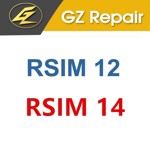 Original para IPhone 5 5S 5C 6 6 S 7 7 Plus X XR XS Max RSIM12 RSIM14 RSIM 12 14 R-SIM 12 R-SIM 14 herramienta para tarjeta SIM