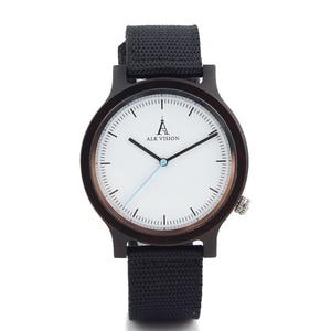Image 4 - Alk Vision Mens Houten Horloge Mannelijke Hout Canvas Nylon Strap Eenvoudige Sport Quartz Horloge Vrouwen Dames Polshorloge 2018