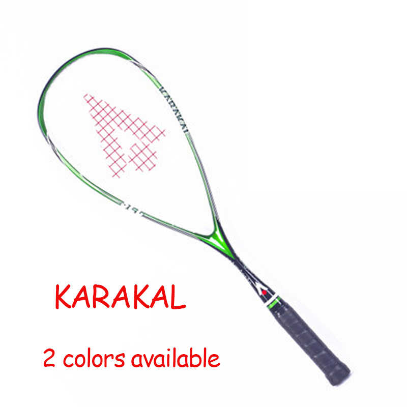 Official Karakal Squash Racket SLC 100% Carbon Fiber Padel Rackets Sport Training 1 Piece Requeta With Bag Strings For Beginner