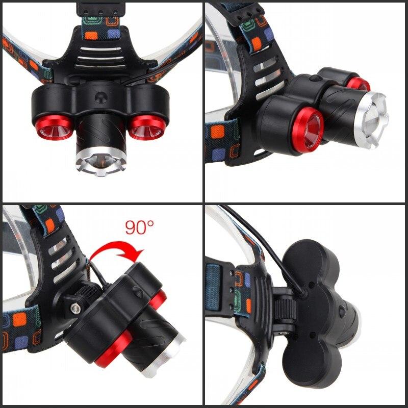 Масштабируемые 15000lm 3x XML T6 светодиодный Велоспорт свет открытый фары Отдых на природе света Факел с USB линии + 18650 + AC/Car Зарядное устройство