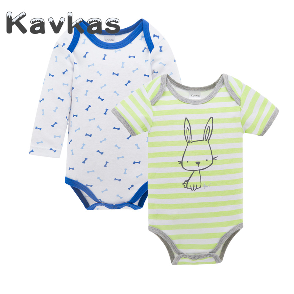 Amicable Kavkas 2019 Baby Clothes 2 Pcs/set Rabbit Printed Newborn Summer Baby Rompers 100% Cotton Roupa De Bebes Infant Wear Rompers