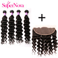 13x4 Lace Frontal Closure With Bundles Peruvian Loose Wave Supernova Hair Products Peruvian Virgin Hair With Closure Bundles