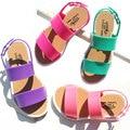 2016 nuevas muchachas del verano zapatos de estilo europeo de moda sandalias para las muchachas 3-7y embroma los goma sandalia PVC de cuero sandalias para niños