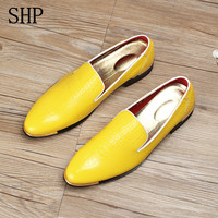 Zapatos Hombre Wedding Shoes Mariage Gold Leather Dress Shoes Man Oxford Shoes For Men Designer Versio