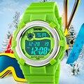 Kidss levaram relógio digital de skmei marca relógios alunos relógios de pulso da geléia dos desenhos animados das meninas dos meninos à prova d' água esportes relojes mujer
