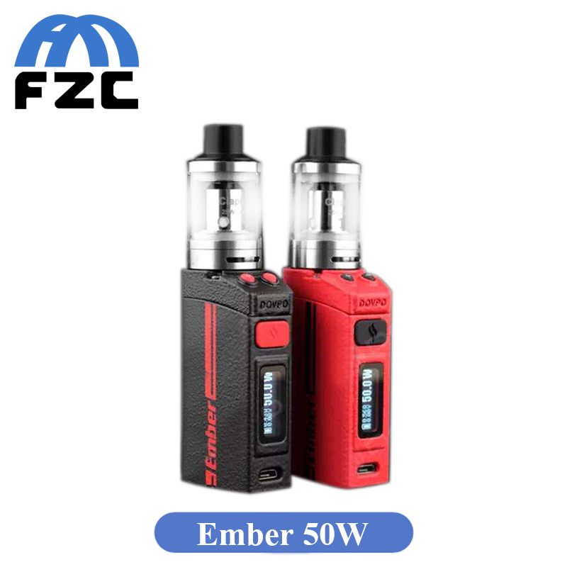 Original Dovpo Ember 50W TC Mod Kit Mechanical Ember 50W Mod 1500mAh 2ml 510 Connector Vape