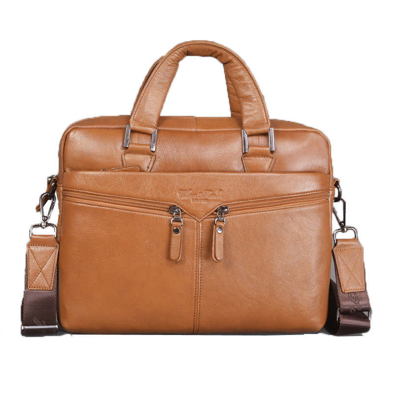 Genuine Leather Business Briefcase Men Handbags Casual Large Shoulder Bags For Office Laptop Bag Male Messenger Bag Briefcase