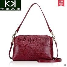 Kadiler 2016 new genuine Thai crocodile handbag shoulder inclined single shoulder bag leather ladies smallwomen  packa