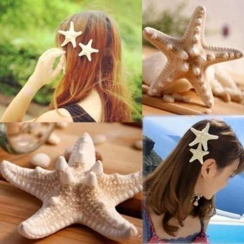 2Pcs หญิงสาวหวาน NICE ปลาดาวทะเล Star Hairpin ผมคลิปของขวัญ