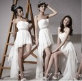 The new 2015 long ago after a short strapless style bridesmaid dresses with cultivate one's morality fashion dress bag mail