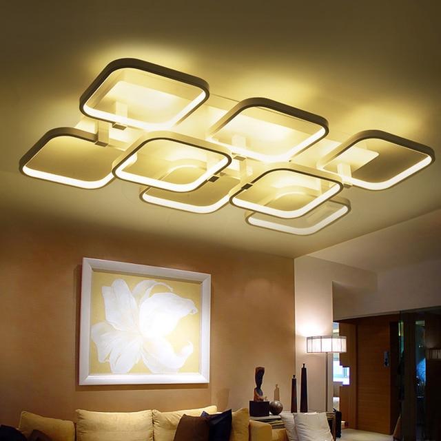 Populaire Led moderne lustre pour salon chambre lampe lustres lumières  FD72