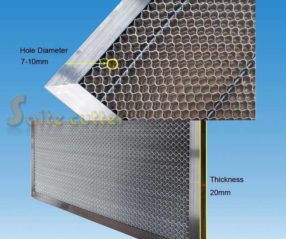 Panal de abeja mesa de trabajo plataforma CO2 40W 3020 tubo láser cortador de grabado 30x20cm