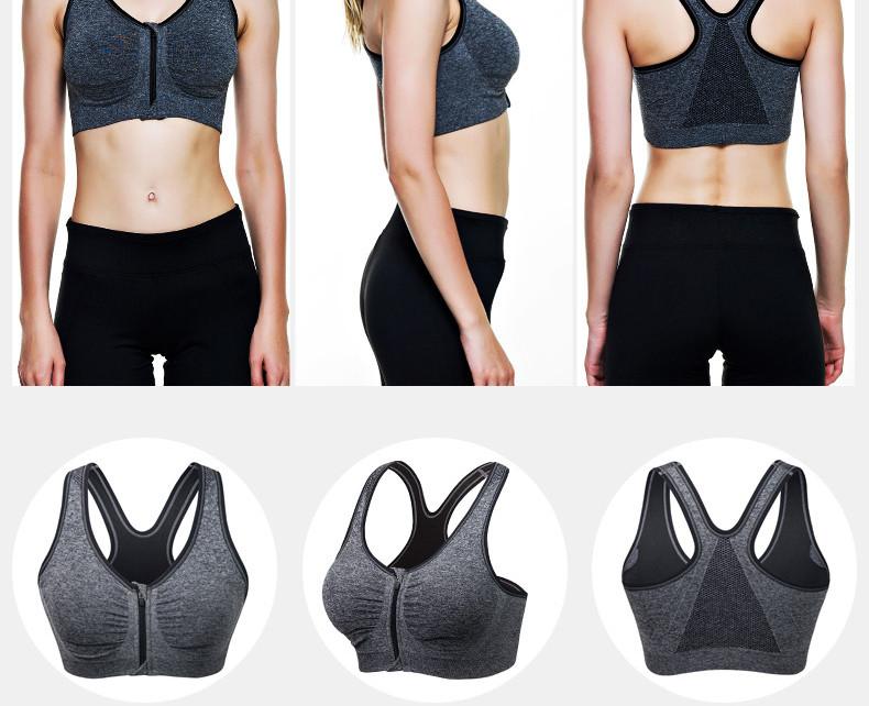 B.BANG 17 New Women Zipper Bra Push Up Crop Top Seamless Sexy Shakeproof Underwear M-XXXL Big Size Wholesale Brassiere 5
