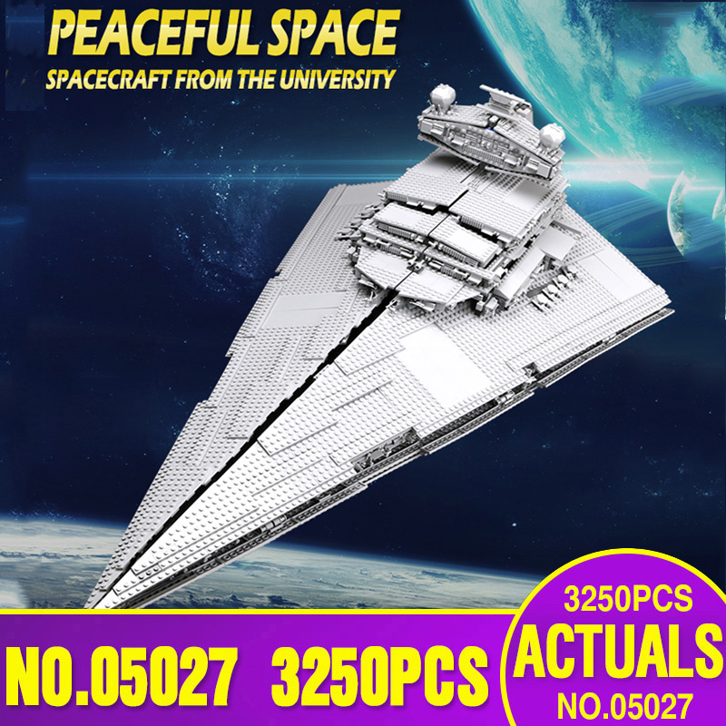 81098 05027 Star Toys Wars Compatible With Lepinging 10030 75252 Imperial Star Destroyer Building Blocks Kids Christmas Gift brick toys block bricks building bricks toys - title=
