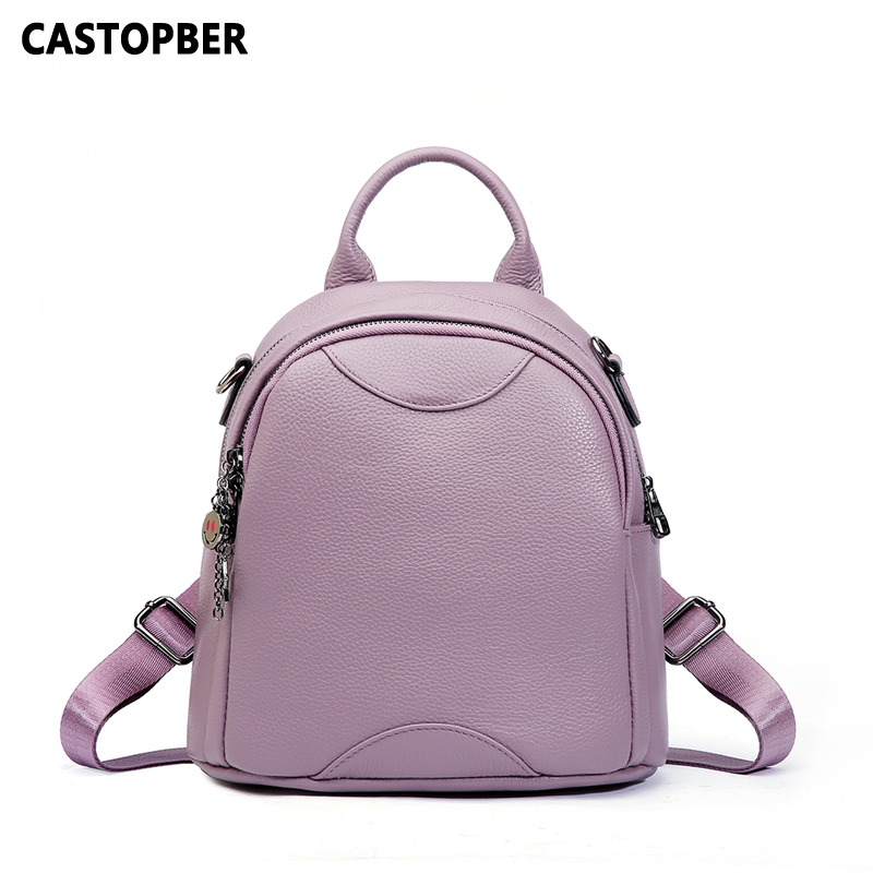 Women Backpacks 2018 Korean Style Fashion Cow Genuine Leather Ladies Backpack Shoulder Bag Korean Version High Quality Famous hmily 2018 new leather women s bags personalized ladies bag metal stamp accessory backpack korean style wave backpacks