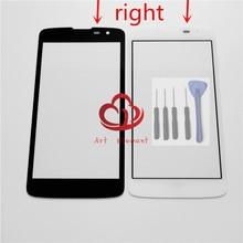 Lentille extérieure en verre décran tactile avant daffichage à cristaux liquides de remplacement pour LG K7 X210 X210DS + outil