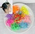 TS 10g 200/600pcs flower headband Candy colored rubber bands apron tie strong pull constantly bagged small baby hair band sports
